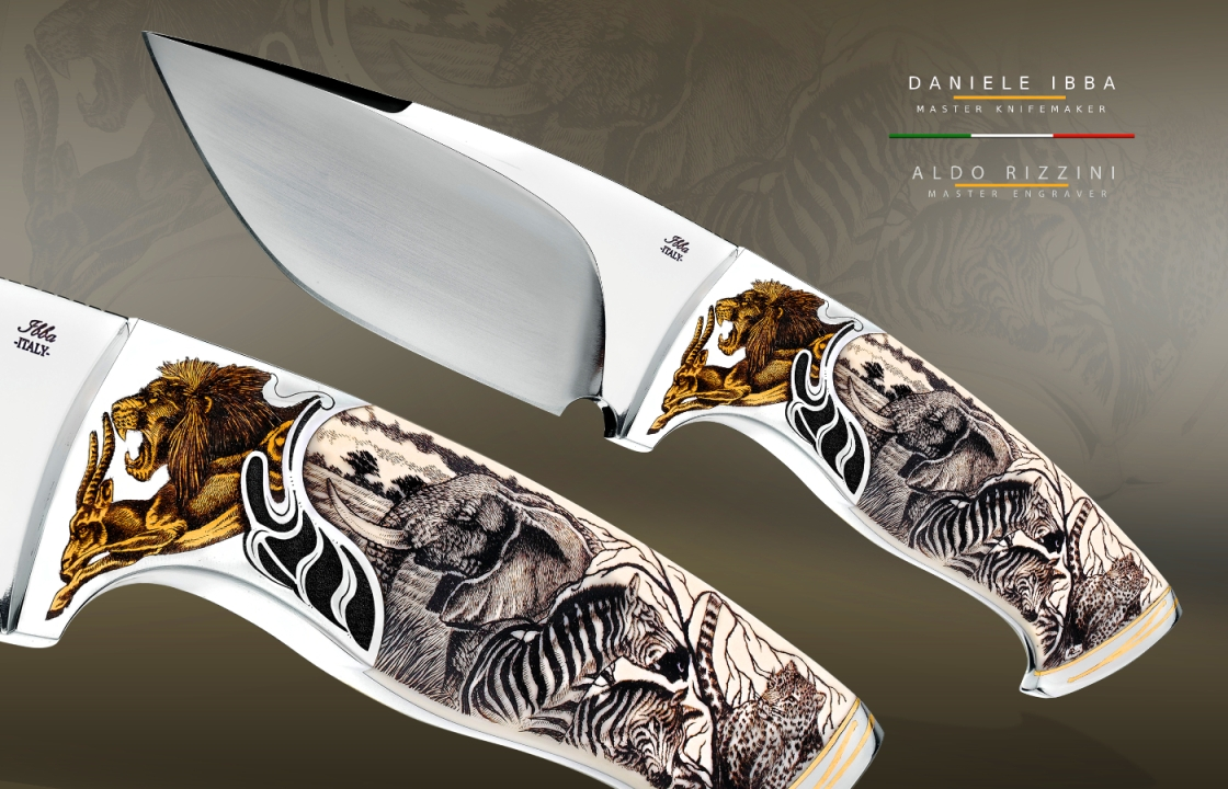 Custom knives - African World - Knifemaker Daniele Ibba -