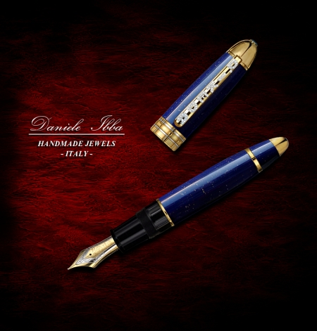 Gold & Lapis Fountain Pen