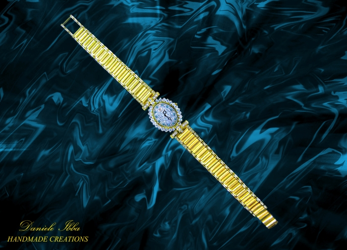 Gold and diamonds-Lady wacth-