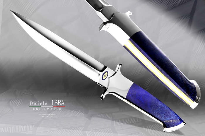 Blue Audax - Ibba custom knives -