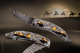 Ibba Daniele knives & Simone Fezzardi Engraved