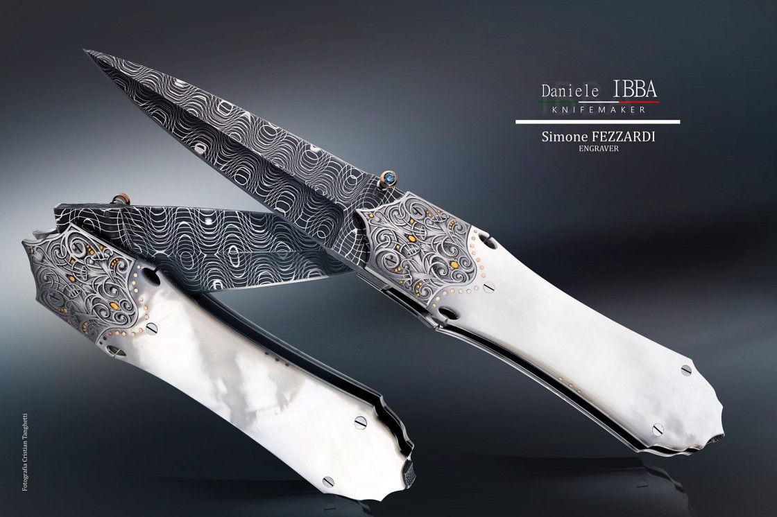 Custom dagger by Daniele Ibba - engraved by Simone Fezzardi