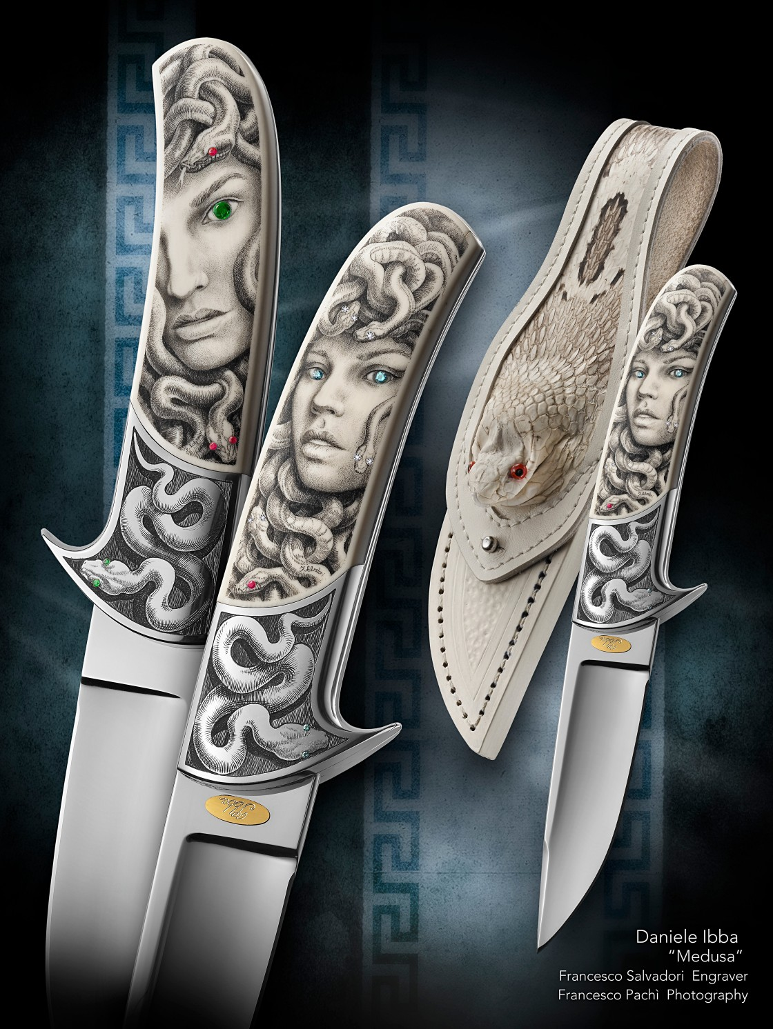 custom knives -Engraved knives -daniele Ibba